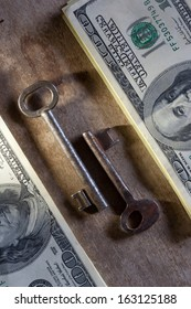 Key to Financial Success. Money, keys.