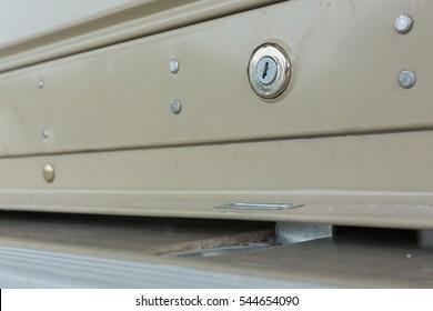 key hole on roller shutter door