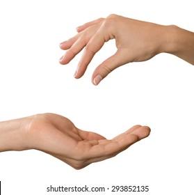 Key, Human Hand, Giving.