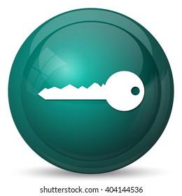 Key icon. Internet button on white background.
