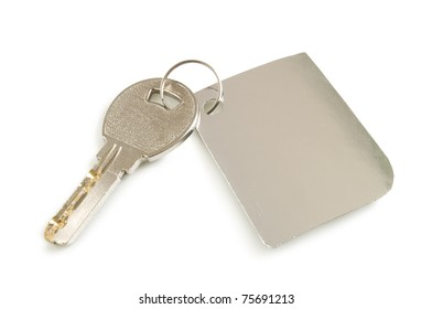 key with label isolated on white