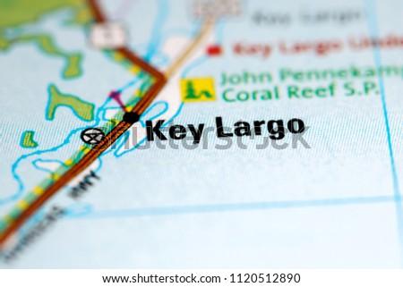 Key Largo Florida Map.Key Largo Florida Usa On Map Stock Photo Edit Now 1120512890