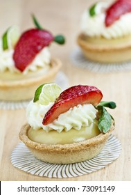key lime tarts with strawberries