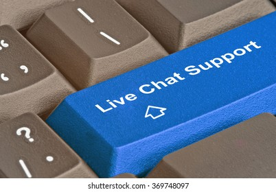 key for live chat support