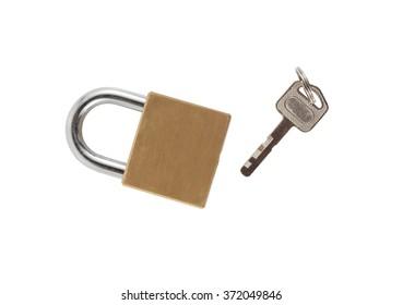 Key lock on a white background