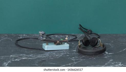 key morse code,vintage telegraph system