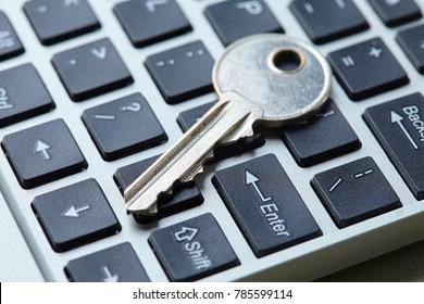 key on the keyboard