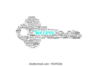 key for success make with word.