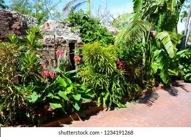 KEY WEST, FL, USA - APRIL 22, 2018: Key West Garden Club on Key West island, Florida