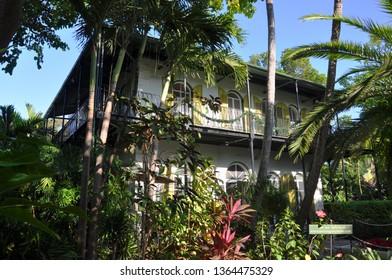 KEY WEST, FL, USA - DEC 20, 2012: Ernest Hemingway House and Museum in Key West, Florida, USA.