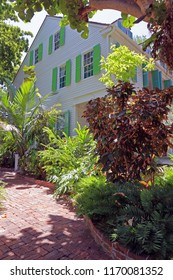 KEY WEST, FLORIDA - JULY 19, 2018: The Audubon House and Tropical Gardens offers visitors a chance to revisit life in Key West in the mid-19th century.