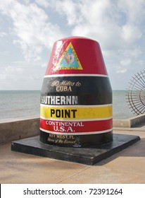 Key West Florida marker to the Southernmost Point in the Continental USA