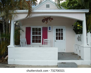 KEY WEST, FLORIDA - MAY 30, 2016: The classic bungalows in City of Key West, Florida
