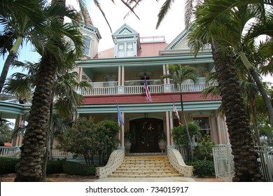 KEY WEST, FLORIDA - MAY 30, 2016: The southernmost House Historic Inn in City of Key West, Florida. Five U.S. Presidents have stayed there