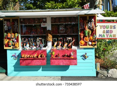 KEY WEST, FLORIDA - MAY 31, 2016: Local souvenirs in Key West, Florida