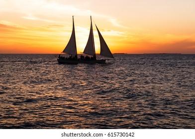 Key West Florida sunset sailboat tour