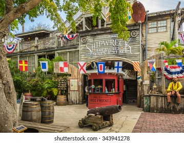 KEY WEST, FLORIDA USA - 2 MAY 2015 - The Shipwreck Treasures Museum. The Shipwreck Treasures Museum is a Popular Tourist Attraction Located at Mallory Square in Downtown Key West