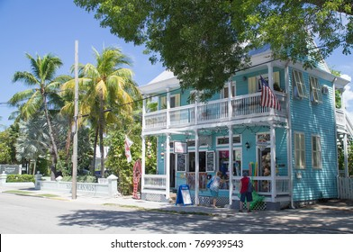 Key West, Florida / USA - June 15 2017: Lobster Shack at Southernmost Point