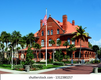 KEY WEST, FLORIDA, USA-FEBRUARY 12, 2019:  The Old Customs House in Key West, which has been converted into a museum.
