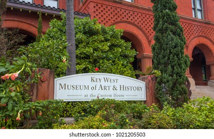 KEY WEST, FL/USA - APRIL 12, 2017 - Key West Museum of Art and History at the Customs House exterior.