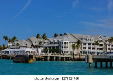 KEY WEST, FL,USA - JANUARY 5, 2019: Margaritaville Key West Resort Marina