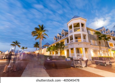 Key West, Mallory Square at night.