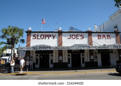 KEY WEST, USA - DEC 30: Sloppy Joe's Bar - historic american bar in Key West. December 30, 2009 in Key West, Florida, USA