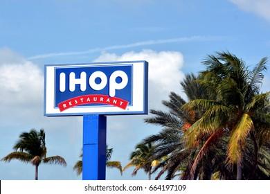 KEY WEST-JUNE 20:  a IHOP retail chain restaurant in Key West, Florida, on June 20, 2017.