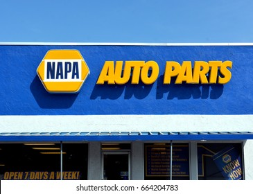 KEY WEST-JUNE 20: a NAPA Auto Parts retail chain store in  Key West, Florida, on June 20, 2017.