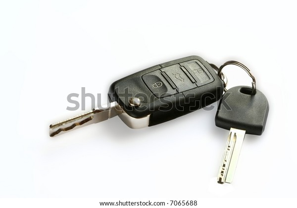 Key with wireless on white background