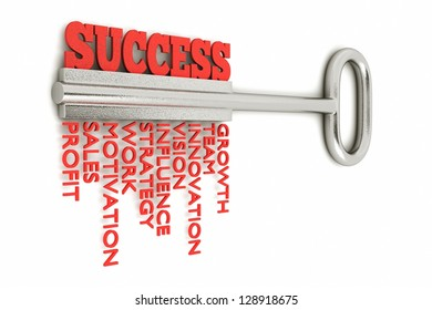 a key with word success, business concept