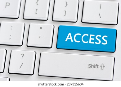 Keyboard with access button. Computer keyboard with access button