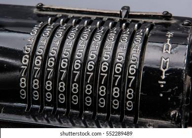 Keyboard of arithmometer