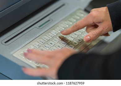 Keyboard of an automatic transfer machine in a bank
