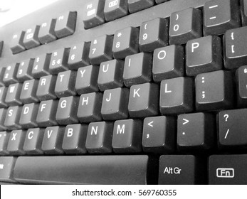 Keyboard in black and white