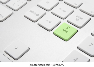 Keyboard with button idea - computer generated ideas concept