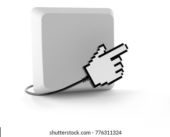 Keyboard button isolated on white background. 3d illustration