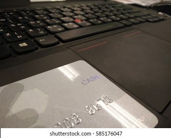 Keyboard buttons with cash card background