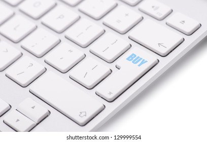 Keyboard with buy button, concept
