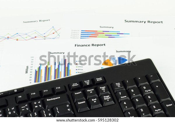 Keyboard calculations, savings, finances and economy concept.