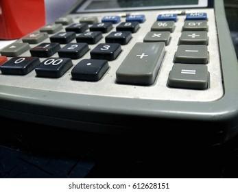 keyboard of calculator