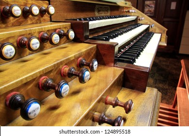 Keyboard church organ