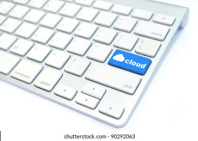 keyboard with  cloud computing button