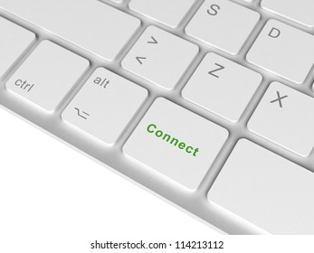 Keyboard with connect key