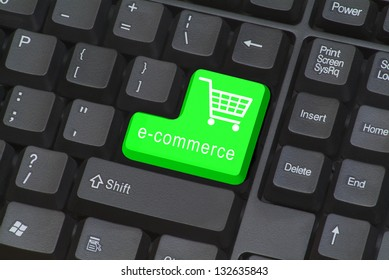 Keyboard with e-commerce button