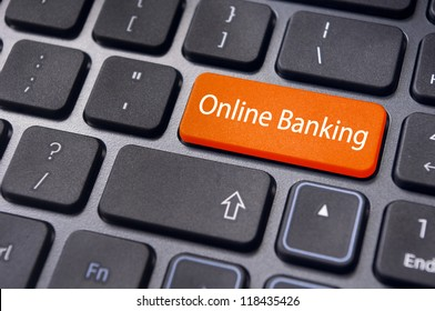 keyboard enter key with message, for online or internet banking concepts.