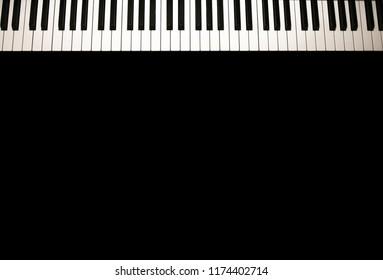 Keyboard of the grand piano
