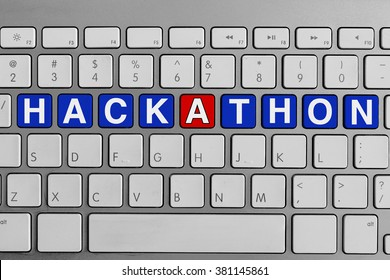 Keyboard with Hackathon text
