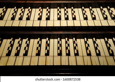 Keyboard of a harpsichord instrument