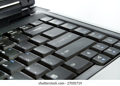 keyboard with a HELP button